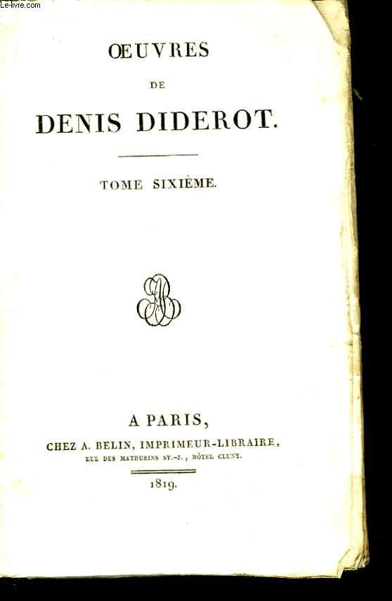 Oeuvres de Denis Diderot. TOME VI.