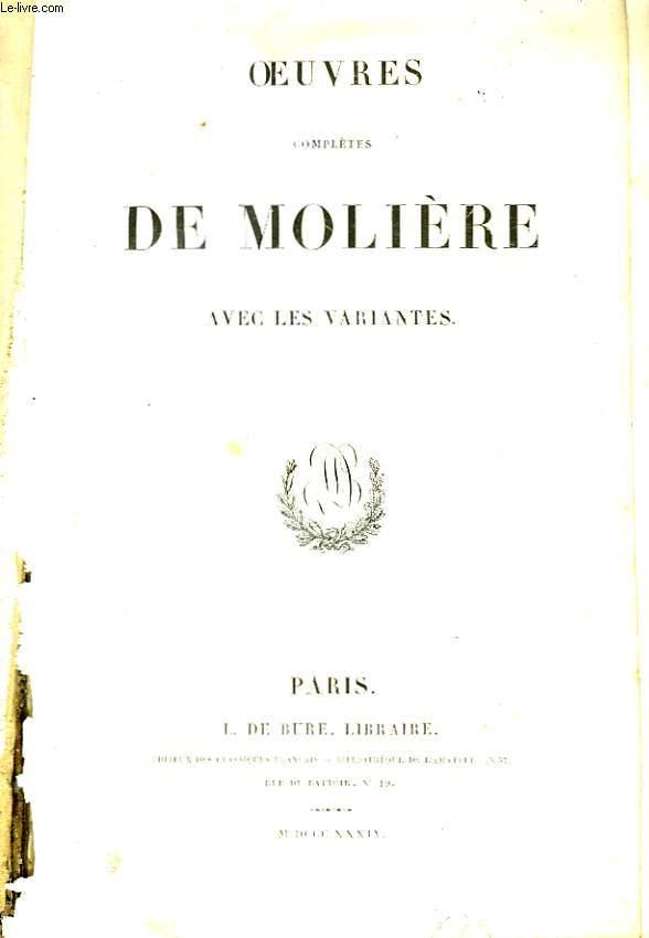 Oeuvres complètes de Molière, avec les variantes. TOME 2
