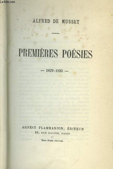 Premières Poésies. 1829 - 1835