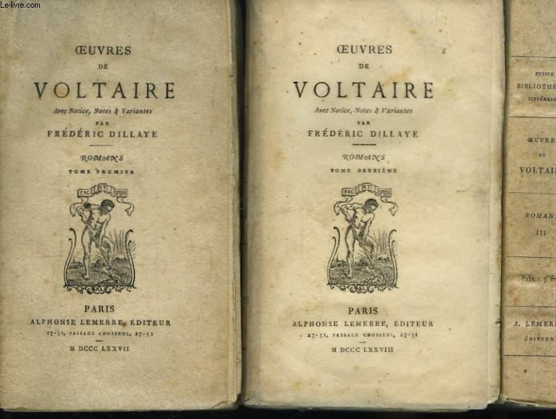 Oeuvres de Voltaire. Romans. En 3 TOMES