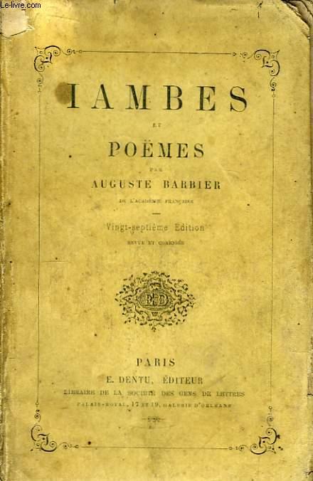 Iambes et Poèmes.