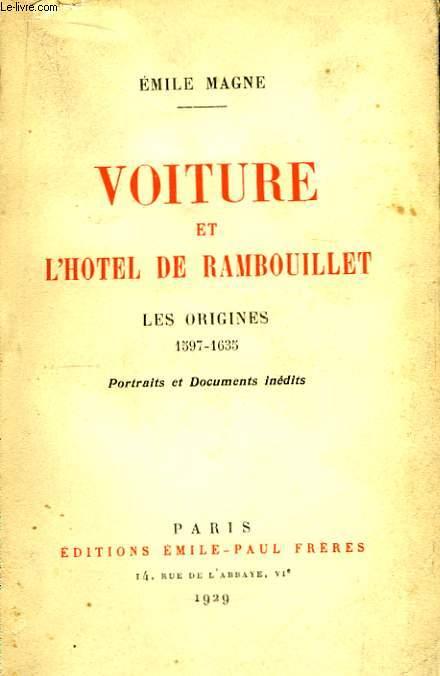 Voiture et l'Hôtel de Rambouillet