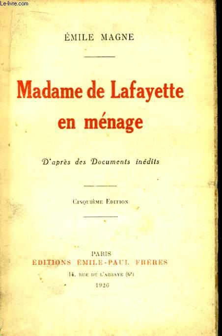 Madame de Lafayette en ménage.