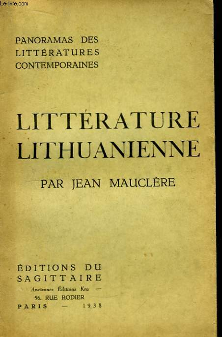 Littérature Lithuanienne.