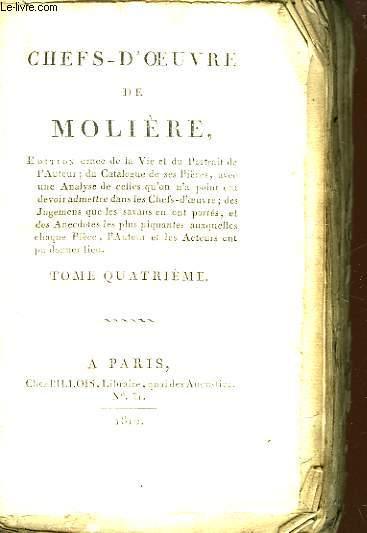 Chefs d'Oeuvre de Molière. TOME IV
