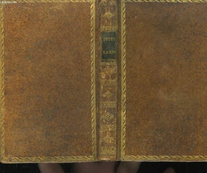 Dithyrambe sur l'Immortalité de l'Ame, suivi du Passage du St-Gothard.