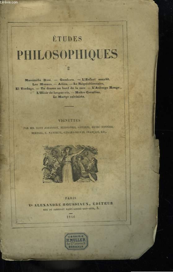Etudes Philosophiques. TOME 2
