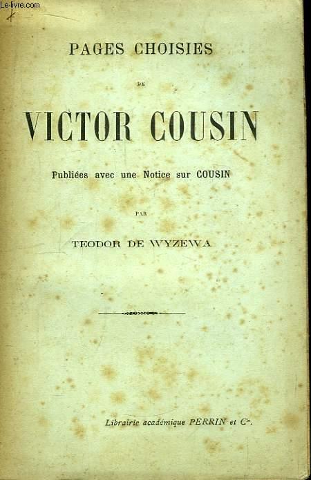 Pages choisies de Victor Cousin.