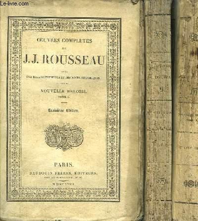 Oeuvres Complètes de J.J. Rousseau. TOMES 7, 8 et 9 : Nouvelle Héloïse.