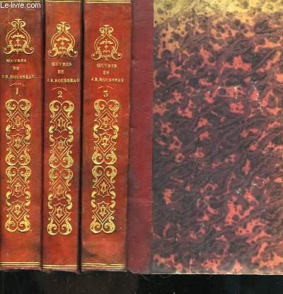 Oeuvres de J.B. Rousseau. En 3 TOMES