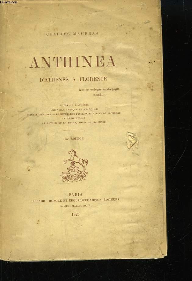 Anthinéa, d'Athènes à Florence.