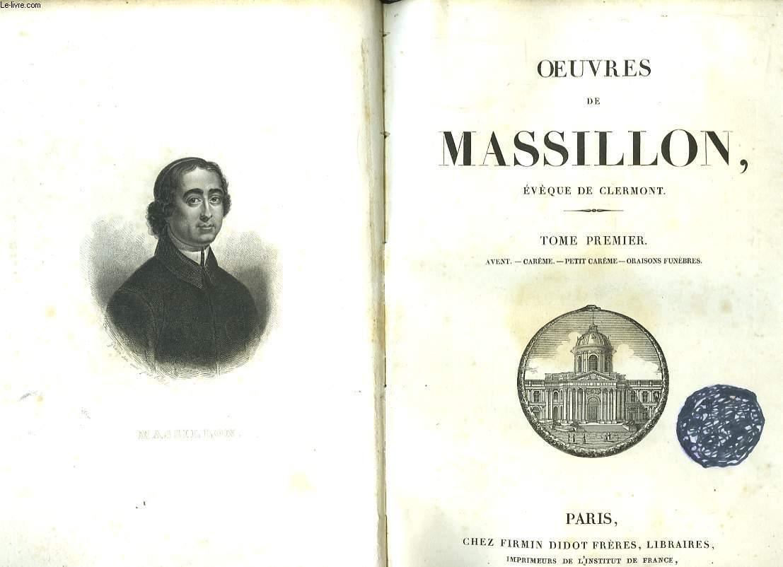 Oeuvres de Massillon. En 2 TOMES