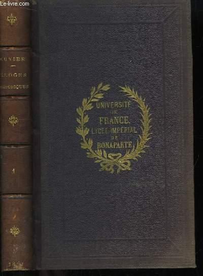 Recueil des Eloges Historiques, lus dans les séances publiques, de l'Institut de France. TOME 1er