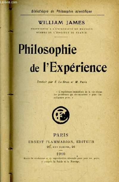 Philosophie de l'Expérience