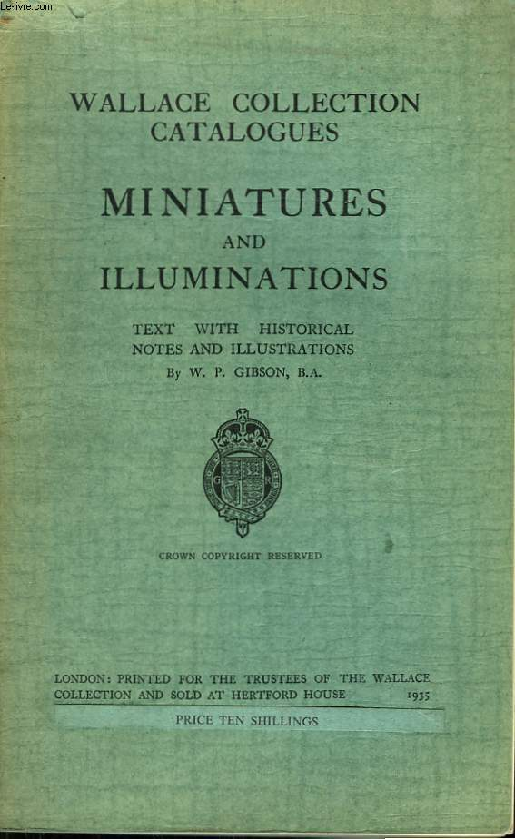 Wallace Collections Catalogues. Miniatures and Illuminations.