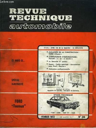 revue technique automobile n 310 ford taunus 1300 1600 1600 gt et 2000 cromback michel. Black Bedroom Furniture Sets. Home Design Ideas