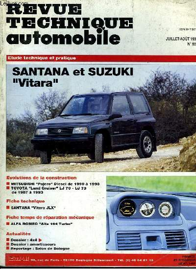 revue technique automobile n 553 santana et suzuki. Black Bedroom Furniture Sets. Home Design Ideas