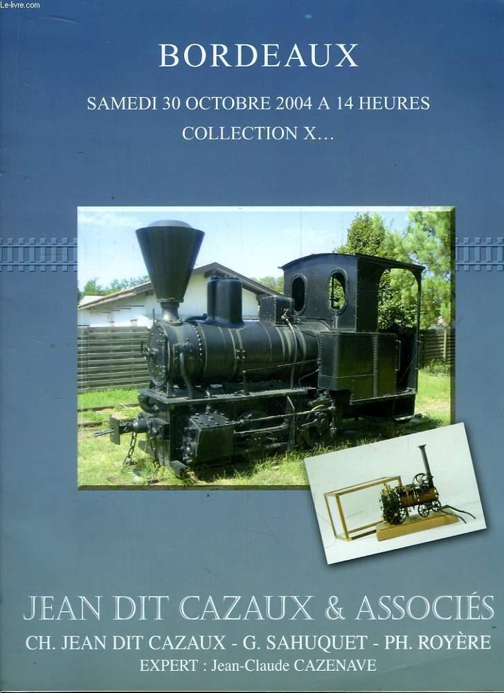 Catalogue de la Vente aux Enchères publiques du 30 octobre 2004.