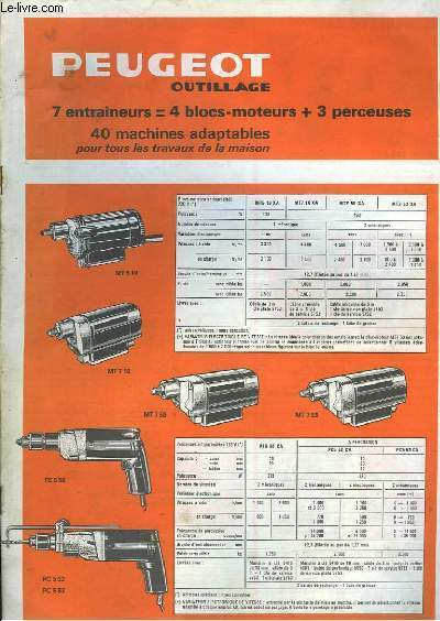 Catalogue Peugeot Outillage.