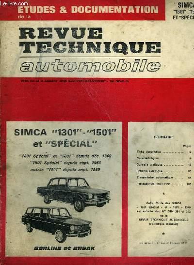 revue technique automobile simca 1301 1501 et sp cial cromback michel collectif. Black Bedroom Furniture Sets. Home Design Ideas