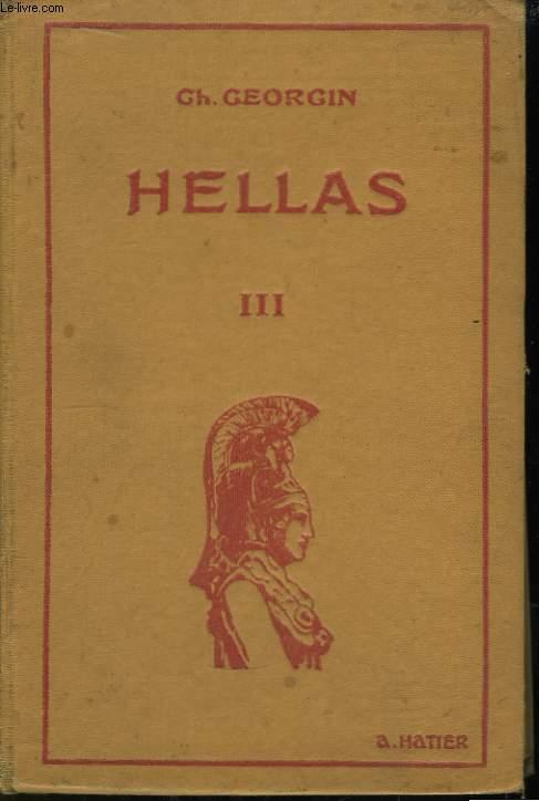 Hellas III. Troisième Manuel Grec, Méthodes et Exercices.