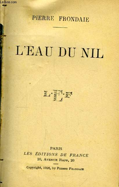 L'Eau du Nil.