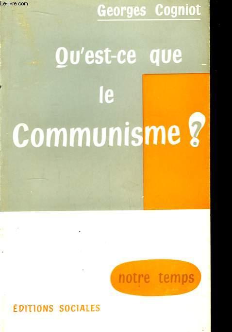 Qu'est-ce que le Communisme ?