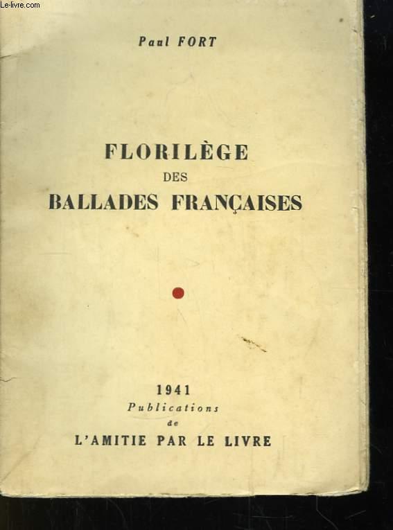 Florilège des Ballades Françaises.