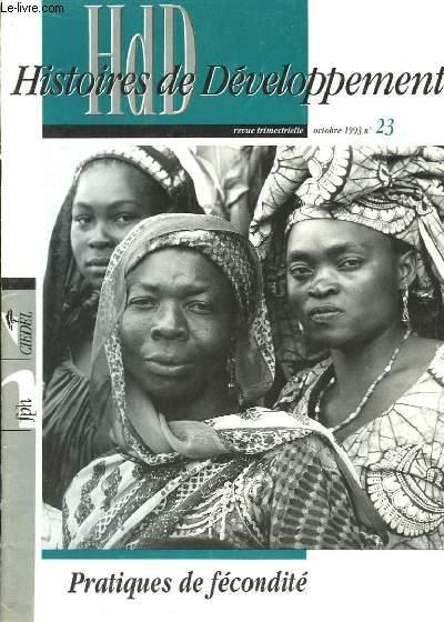 HdD, Histoires de Développement n°23 : Pratiques de fécondité.