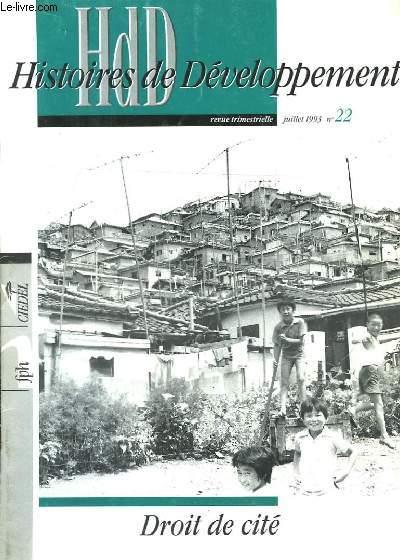 HdD, Histoires de Développement n°22 : Droit de cité