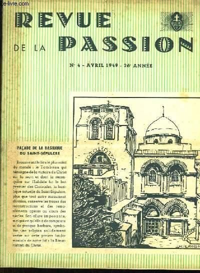 Revue de la Passion n°4, 26eme année.