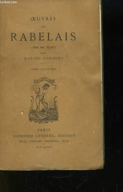Oeuvres de Rabelais. TOME III