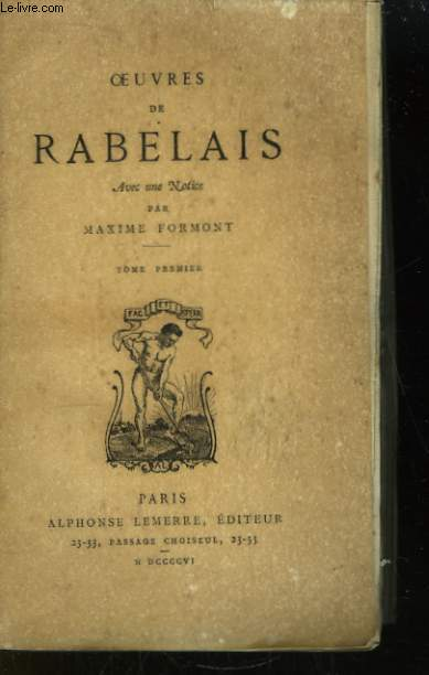 Oeuvres de Rabelais. TOME 1er