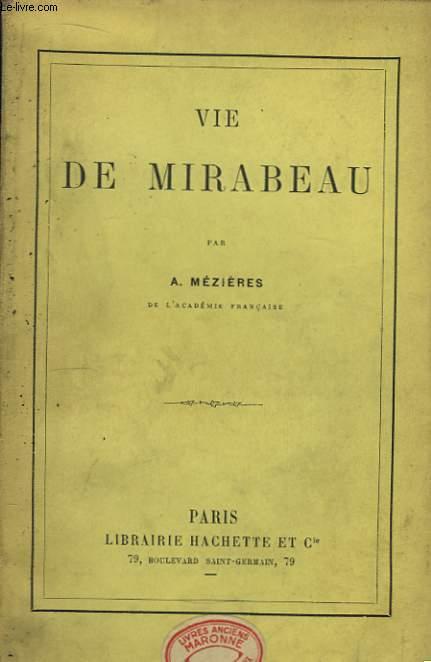 Vie de Mirabeau.