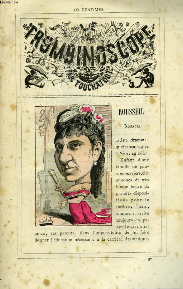 Le Trombinoscope N°87 : Rosalia Rousseil