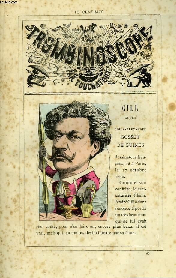 Le Trombinoscope N°85 : André Gill - Louis-Alexandre Gosset de Guines.