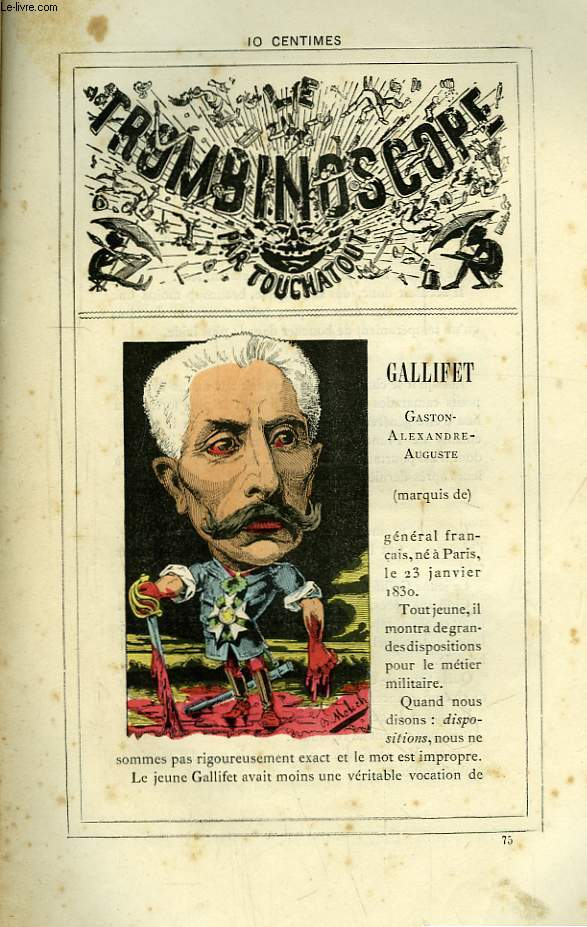 Le Trombinoscope N°75 : Gaston-Alexandre-Auguste Gallifet.