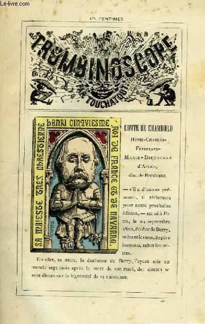 Le Trombinoscope N°34 : Comte de Chambord. Henri-Charles-Ferdinand-Marie-Dieudonné d'Artois, duc de Bordeaux.