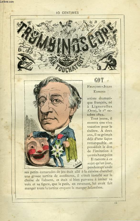 Le Trombinoscope N°22 : François-Jules-Edmond Got.