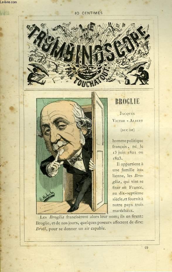 Le Trombinoscope N°69 : Jacques-Victor-Albert Broglie (Duc de)