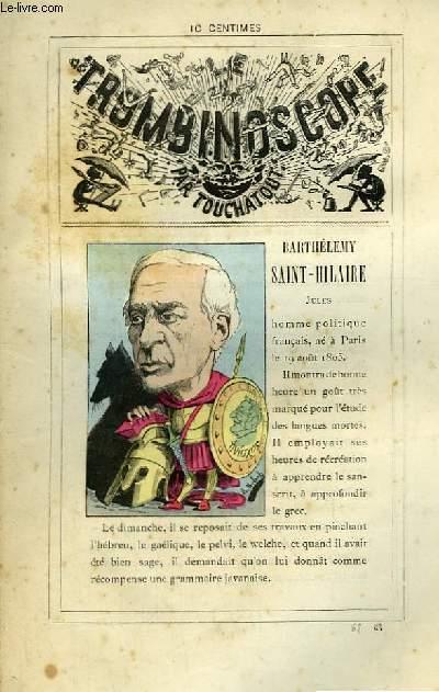 Le Trombinoscope N°67 : Jules Barthélémy Saint-Hilaire