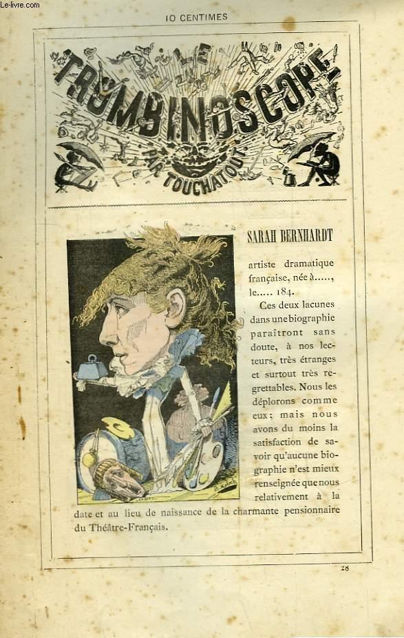 Le Trombinoscope N°28 : Sarah Bernhardt