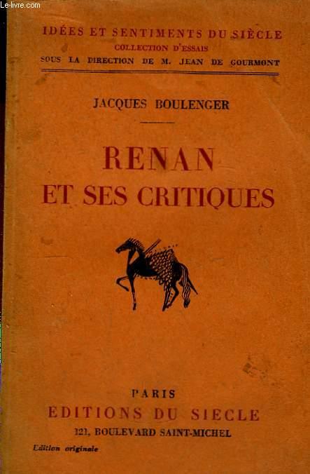 Renan et ses critiques
