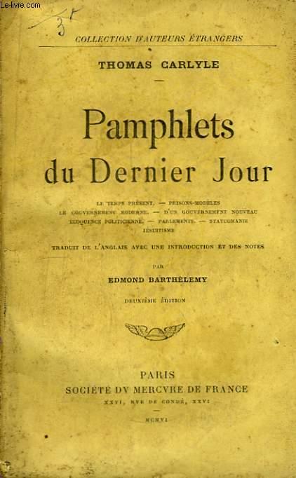 Pamphlets du Dernier Jour.