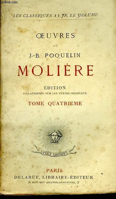 Oeuvres de J.B. Poquelin Molière. TOME 3