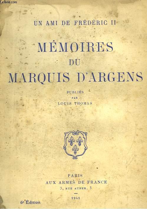 Mémoires du Marquis d'Argens.