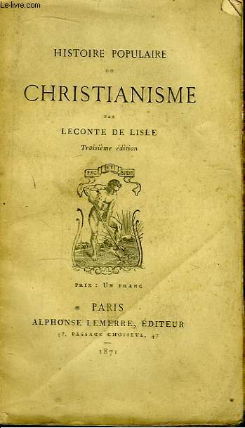 Histoire Populaire du Christianisme.