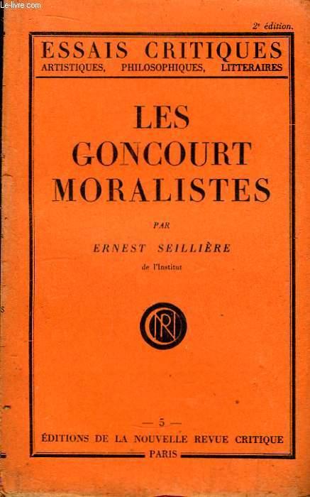 Les Goncourt Moralistes.