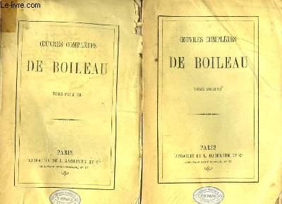 Oeuvres Complètes de Boileau. En 2 TOMES