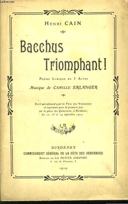 Bacchus Triomphant !